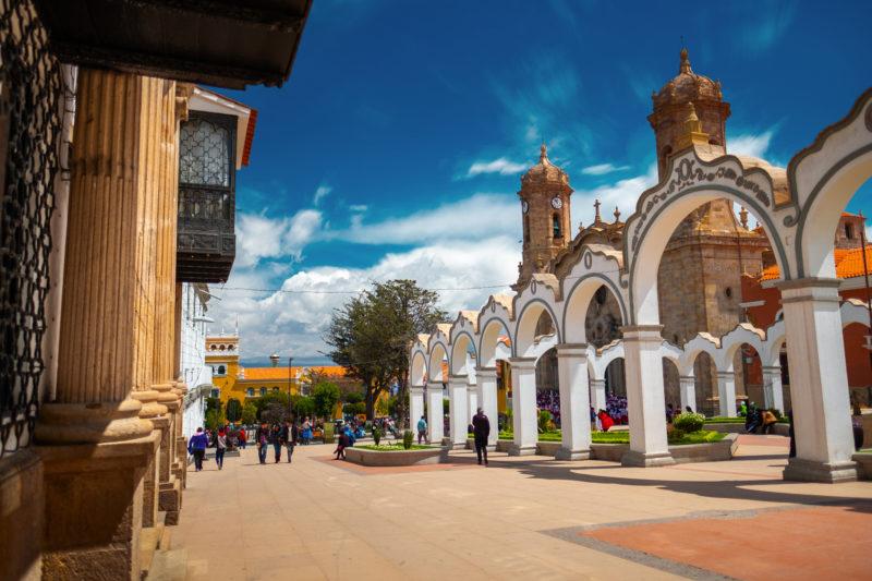 Besuchen Sie das Zentrum der Stadt Potosi, Bolivien