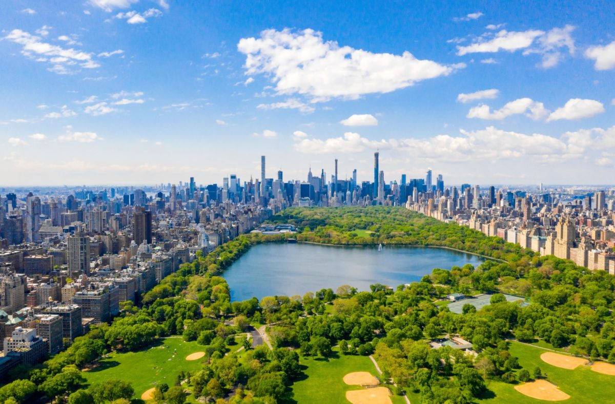 Blick auf den Central Park in New York