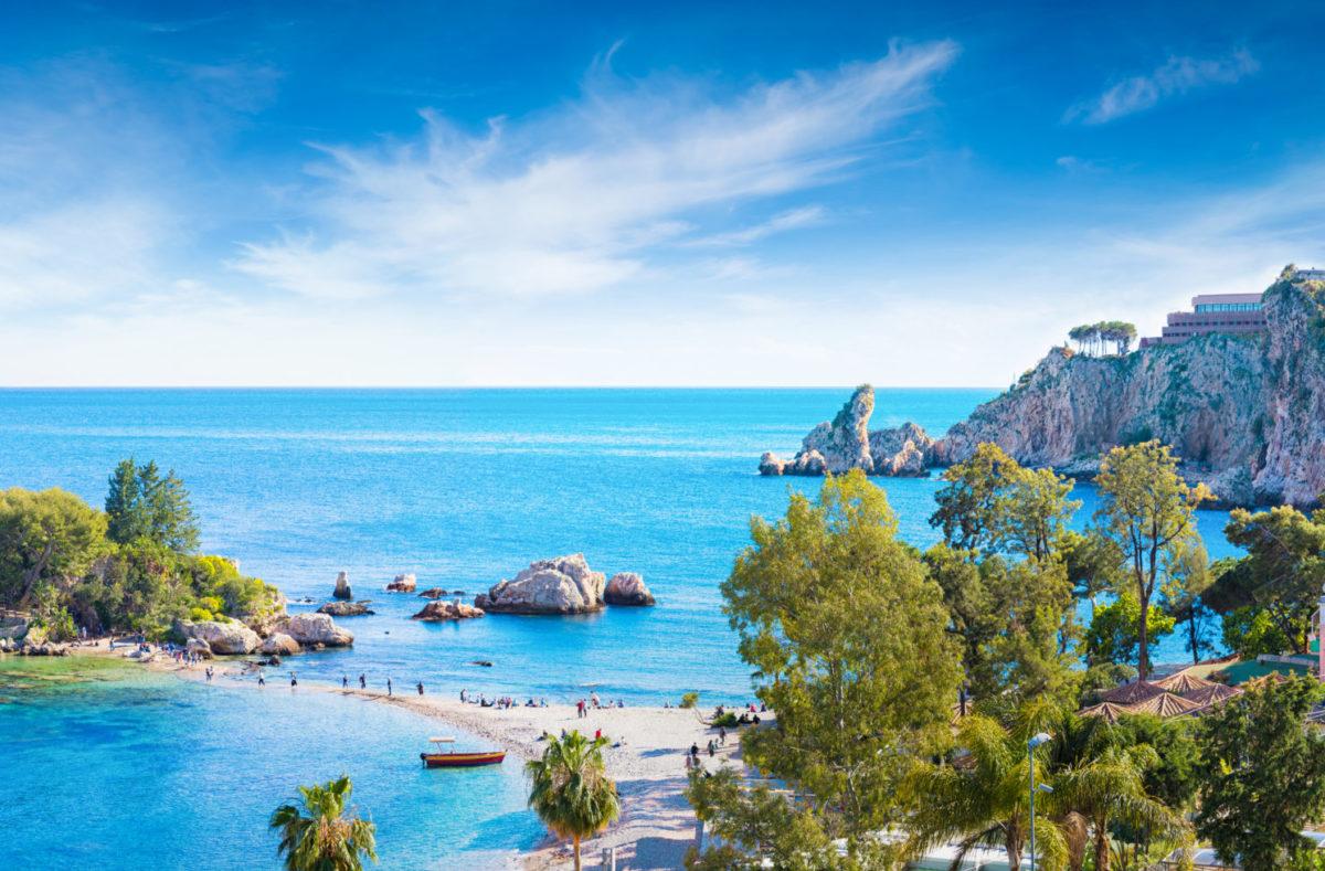 Isola Bella, kleine Insel bei Taormina Sizilien