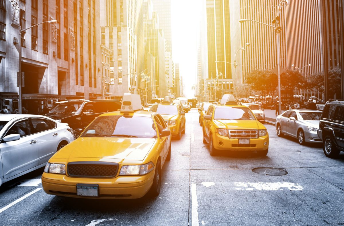 New Yorker Taxis in Manhattan