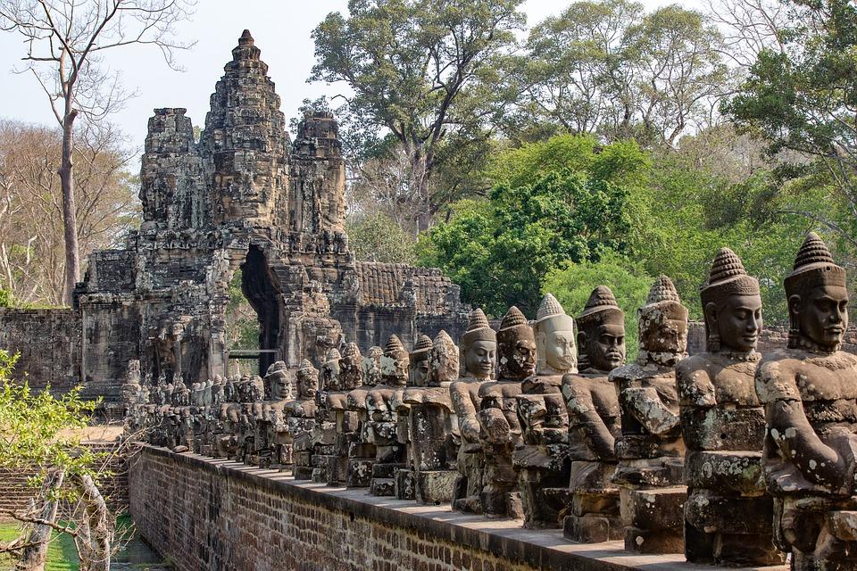 Visite d'Angkor Thom Kambodscha