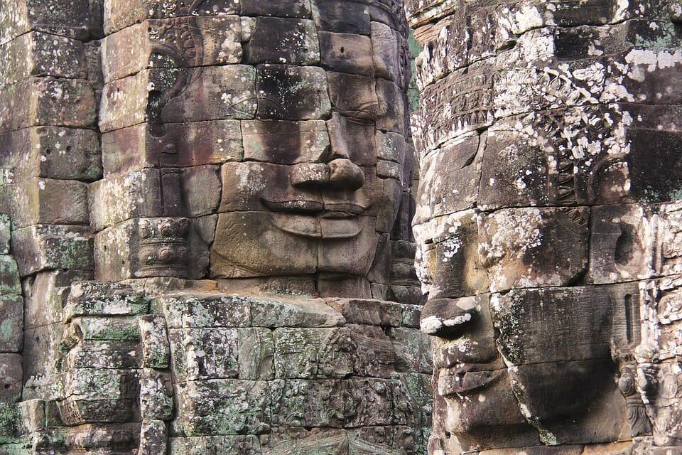 Gruppenbesuch von Bayon Kambodscha