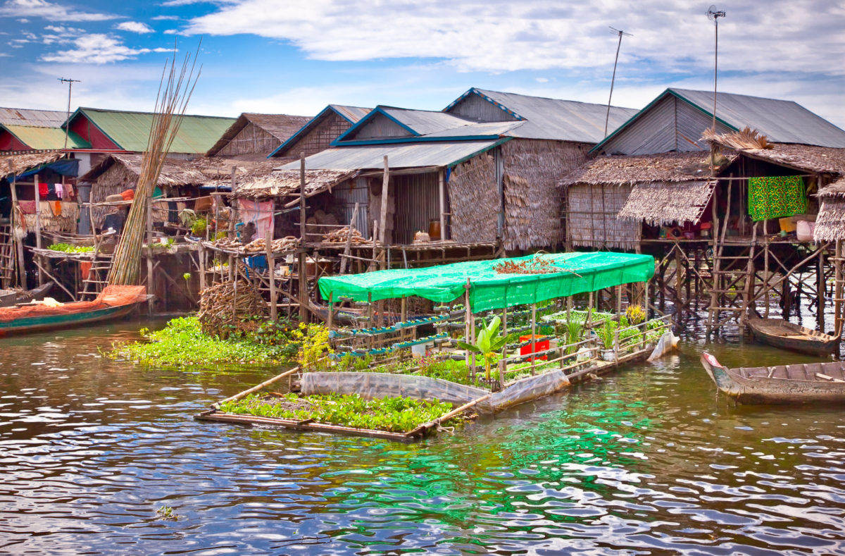 Schwimmendes Dorf Südvietnam und Kambodscha