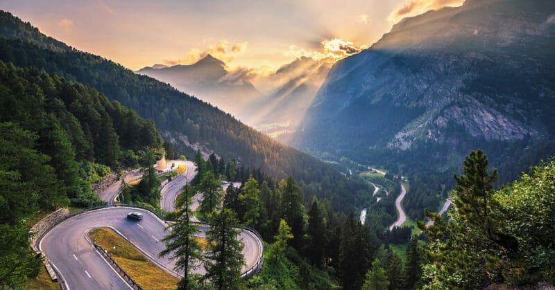 Malojapass-Schweiz-Route