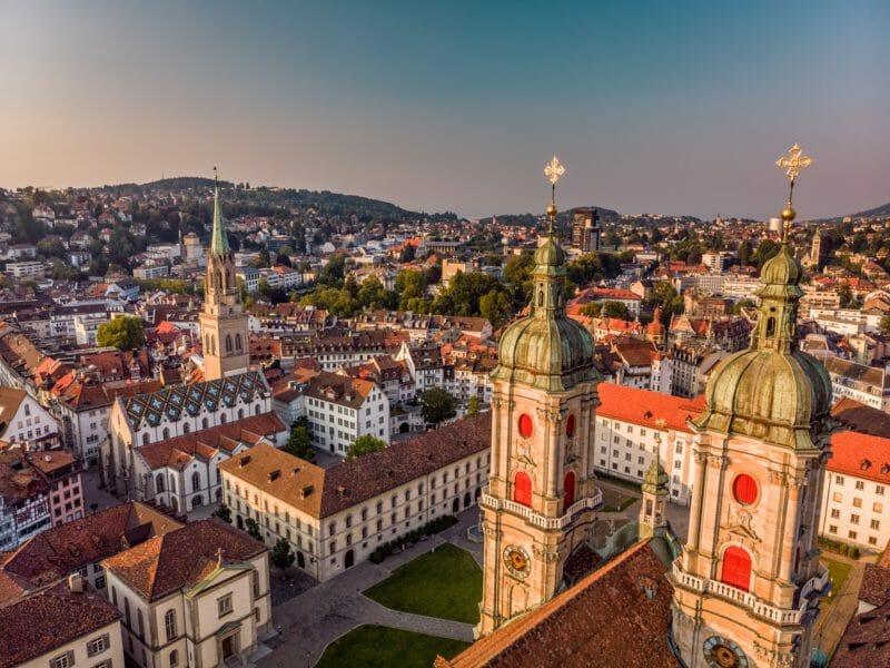 Luftaufnahme von St. Gallen Gruppenreise in die Ostschweiz