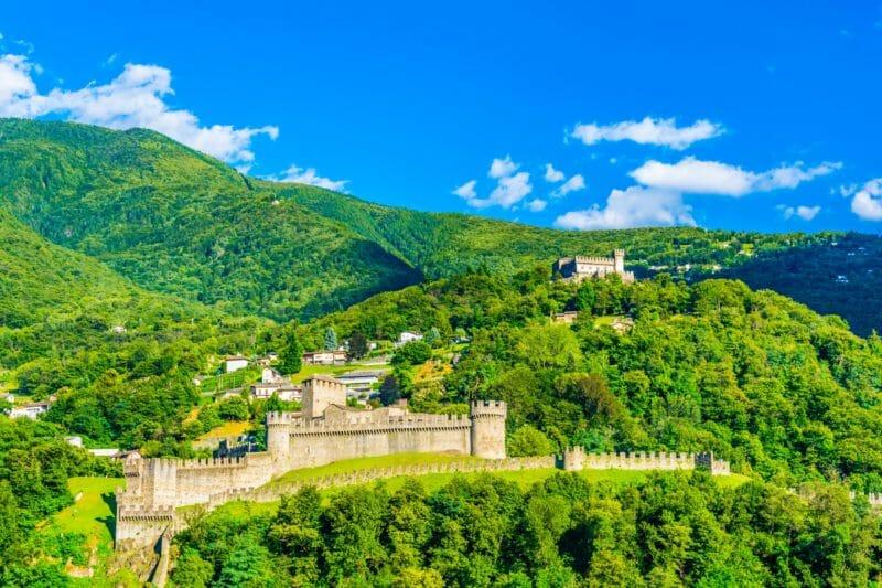 Besuchen die Schlösser von Bellinzona UNESCO