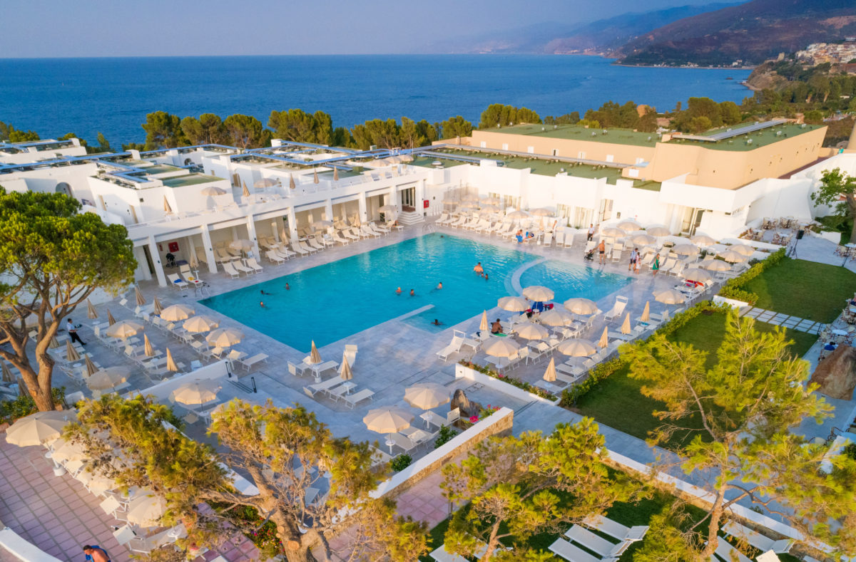 Blick vom Pollina Resort Sizilien