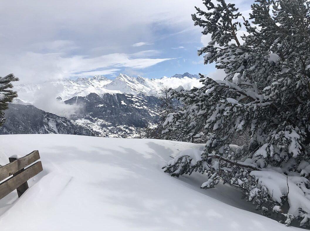 Schneelandschaft Wallis