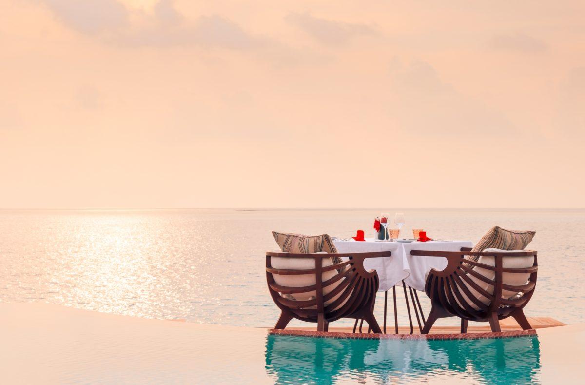 Privates romantisches Abendessen im LUX Nord Malé Atoll Malediven