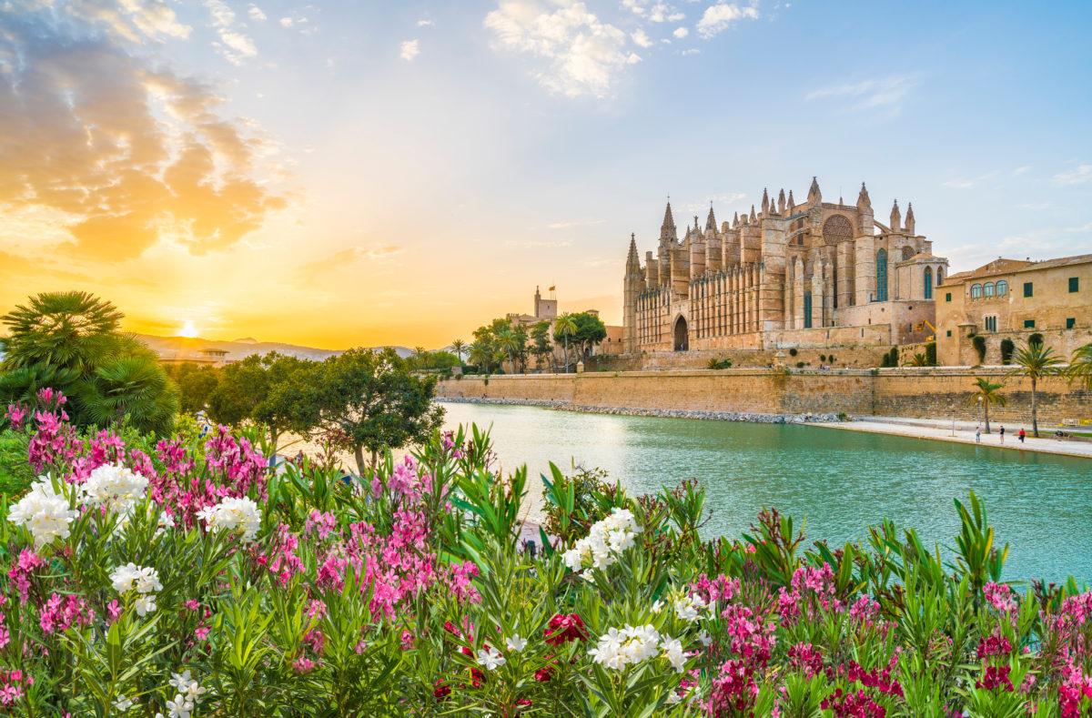 Kathedrale La Seu bei Sonnenuntergang, Palma de Mallorca