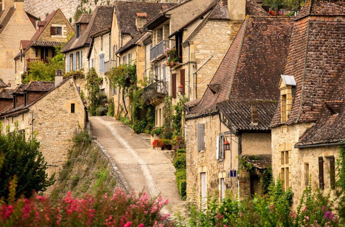 Besuch bei Beynac in der Dordogne Frankreich