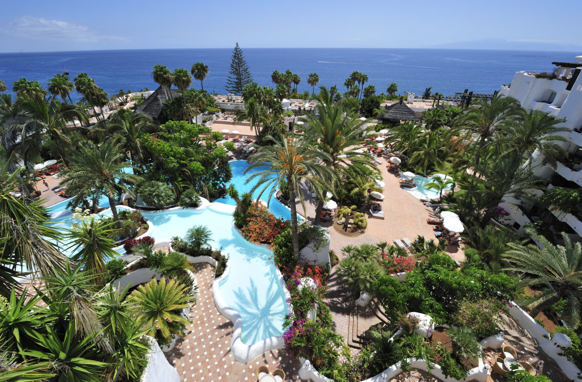 Tropischer Garten Pool Teneriffa