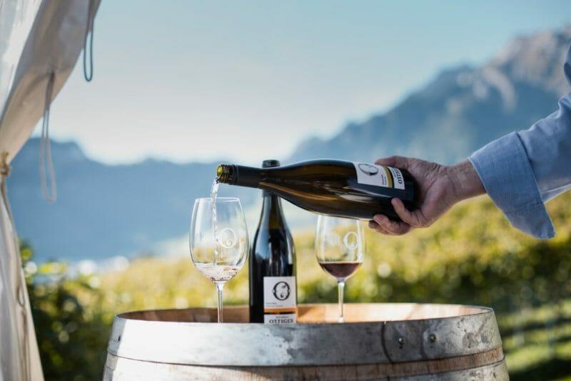 Weinverkostung in Ottiger