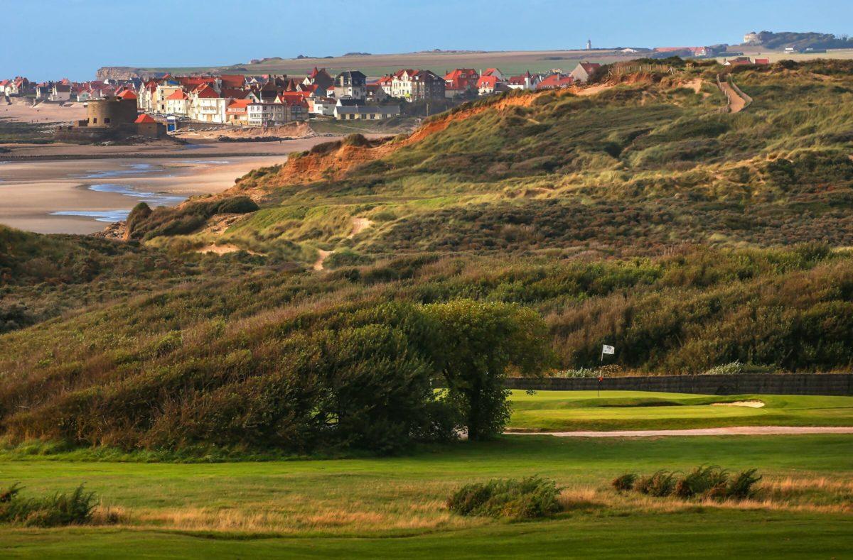 Golfplatz am Golf von Wimereux