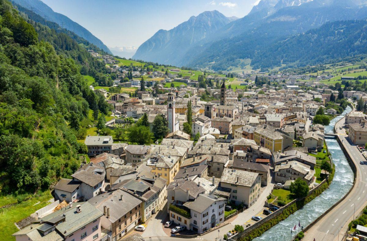 Borgo von Poschiavo, das historische Dorfzentrum