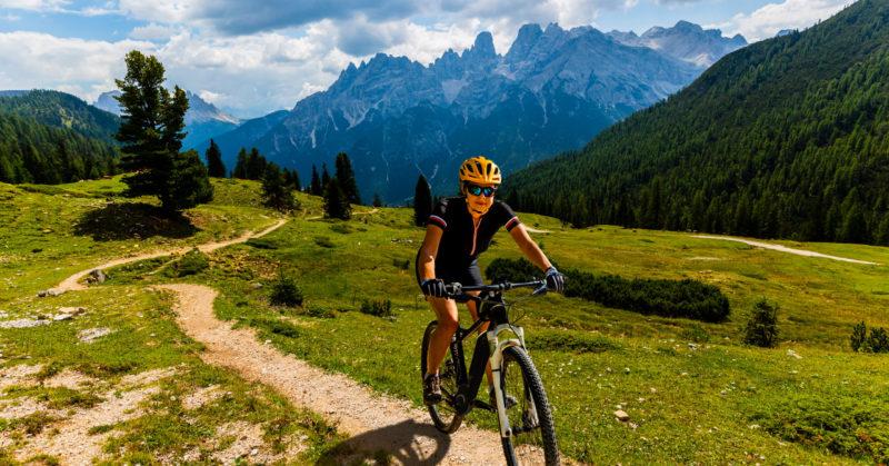 Radtour in den Dolomiten