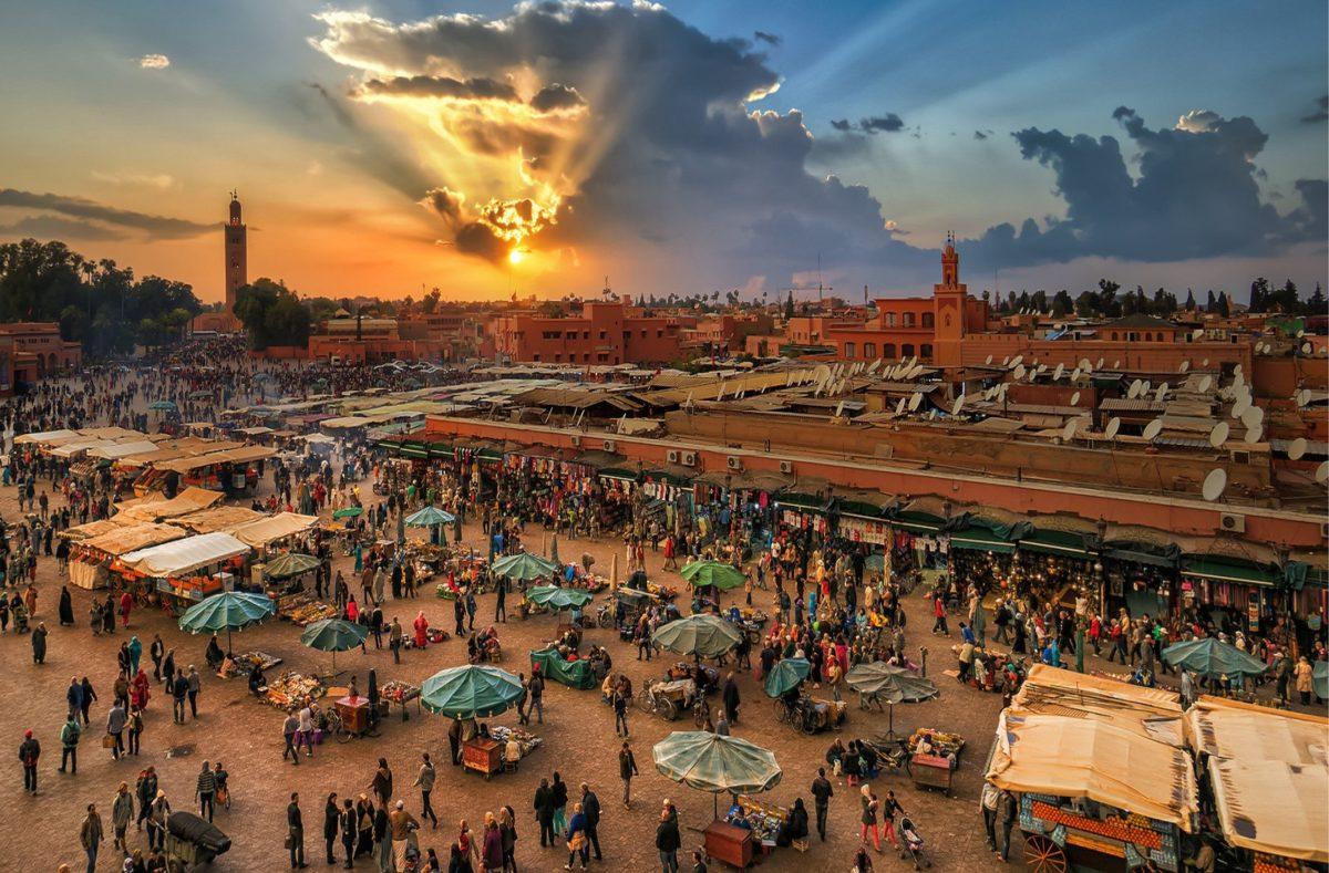 Platz Jemaa el-Fna Marokko
