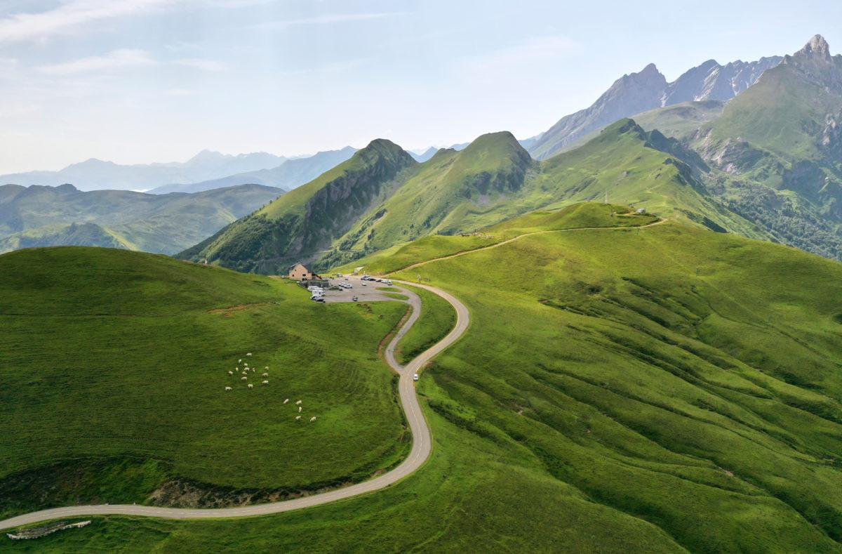 Col de l'Aubisque zwischen den Tälern von Osseau und Pau Frankreich