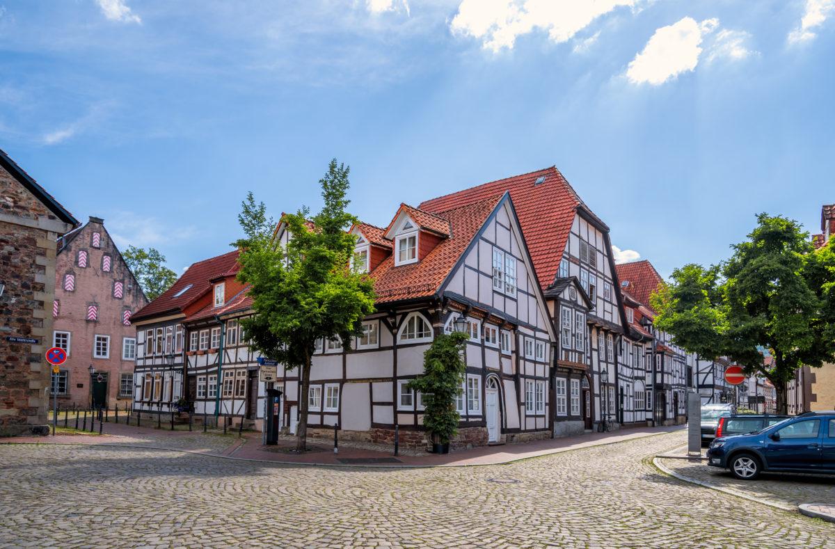 Fachwerkhäuser in Hameln, Deutschland