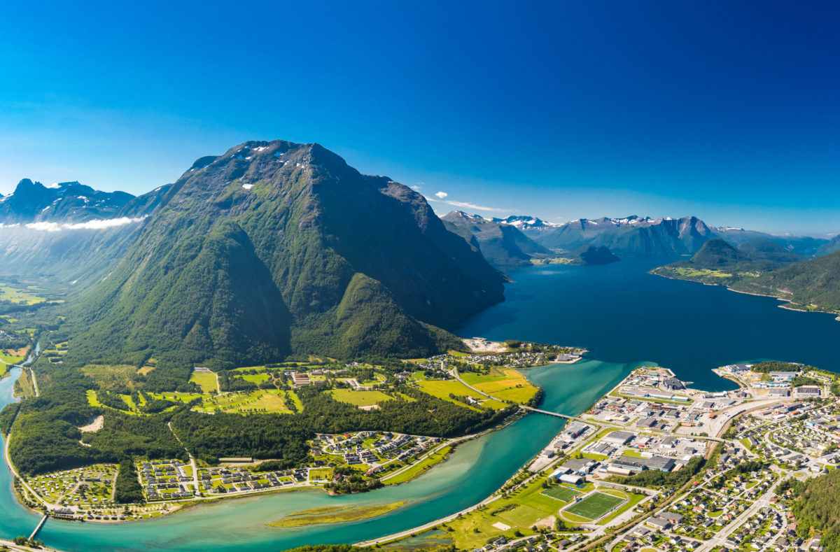 Andalsnes Stadt Rauma in Norwegen