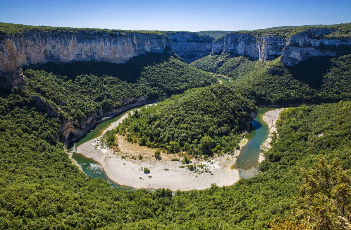 Schluchten der Ardèche in Süd-Zentral-Frankreich