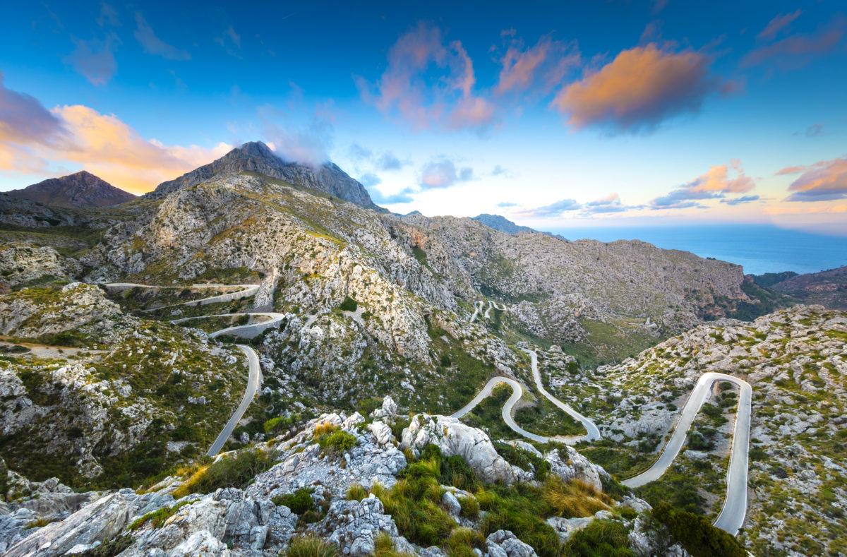 Straße Sa Calobra auf Mallorca