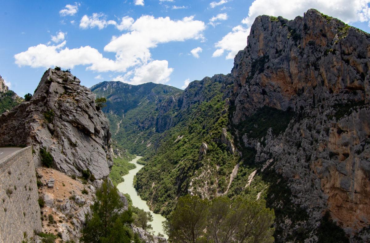 Blick auf die Gorges du Verdon Provence Frankreich