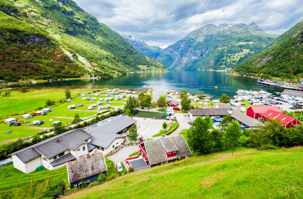 Geiranger Region von Sunnmore in Norwegen, im Geirangerfjord
